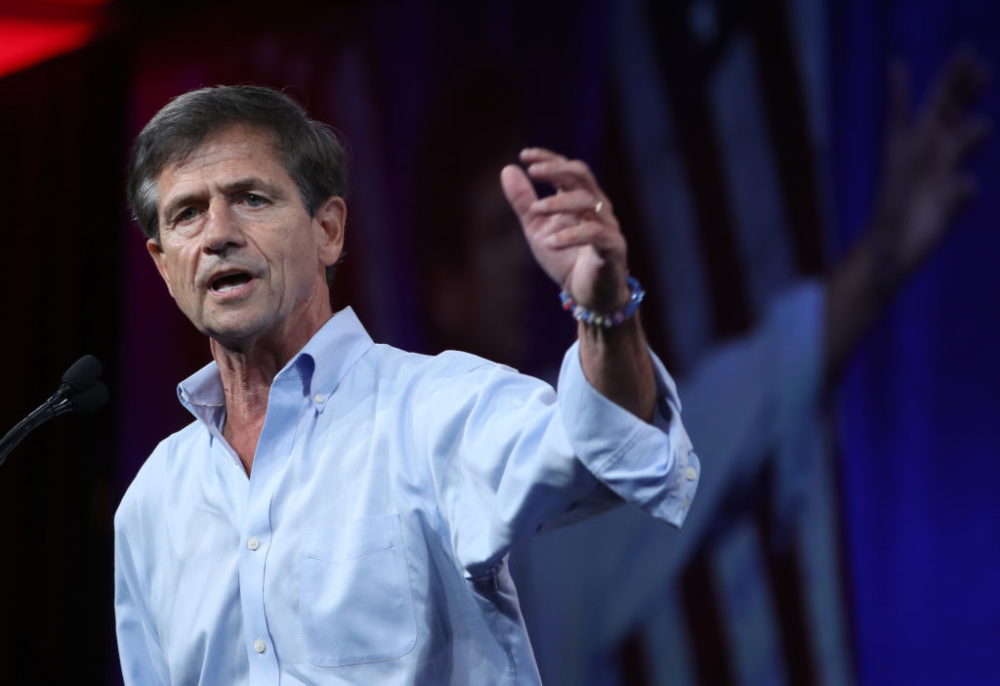 Democratic presidential candidate and former U.S. Rep. Joe Sestak speaks during the DNC summer meeting in San Francisco, California. (Justin Sullivan/Getty Images)
