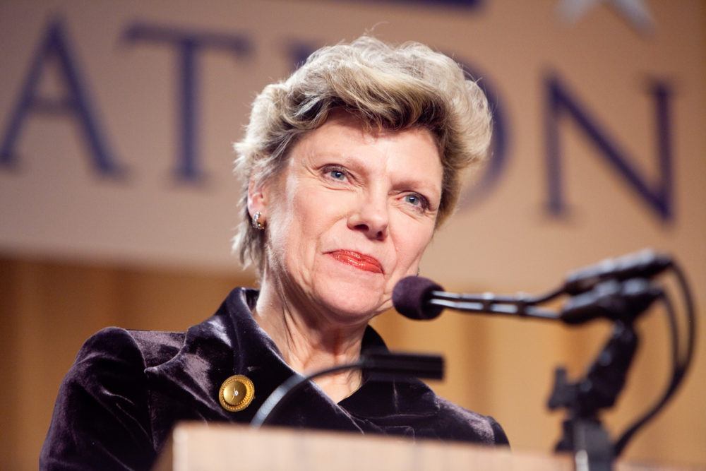 Journalist Cokie Roberts appears at the National Press Foundation's 26th annual awards dinner on Feb. 10, 2009 in Washington, D.C. (Brendan Hoffman/Getty Images)