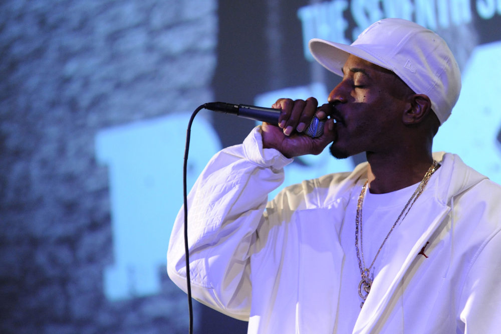Rakim performs at the Apple Store in Soho on Nov. 20, 2009 in New York City. (Jason Kempin/Getty Images)