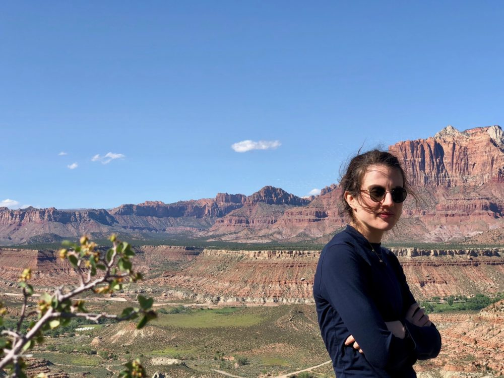 Tatiana Schlossberg pictured at Zion National Park in Utah, May 2019. (Courtesy)