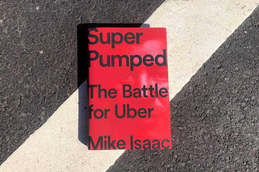 "In ""Super Pumped: The Battle for Uber,"" New York Times technology reporter Mike Isaac details the company's remarkable rise — and the misdeeds that forced the resignation of its founder and CEO. (Allison Hagan/Here & Now)"