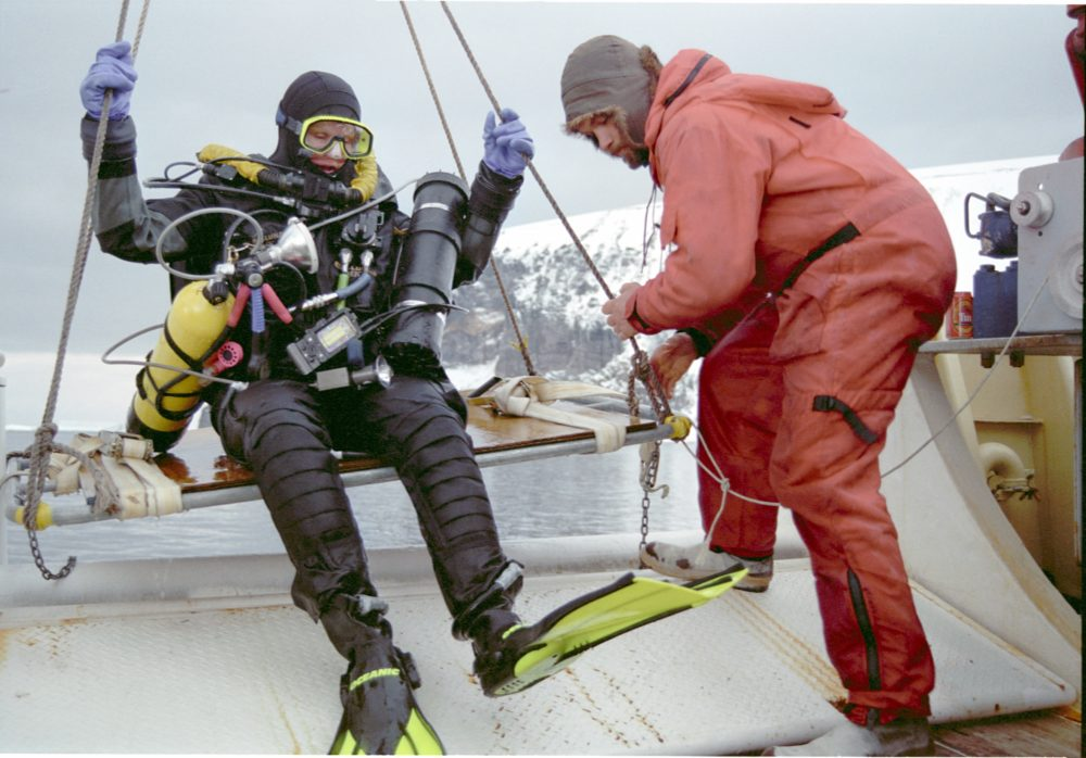 Jill Heinerth and her team decided they would become the first-ever to cave dive inside an iceberg after B-15, an iceberg 'the size of Jamaica,' broke away from Antarctica. (Courtesy Jill Heinerth)