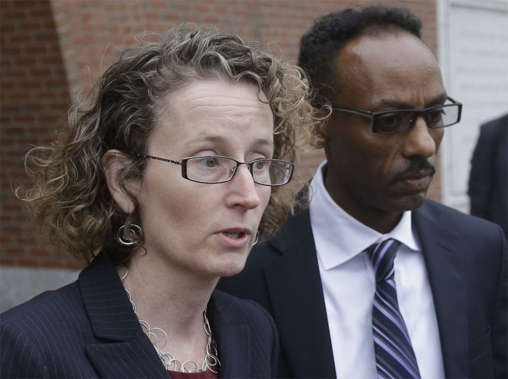 Susan Church, left, and fellow attorney Derege Demissie, in 2015. (Stephan Savoia/AP)