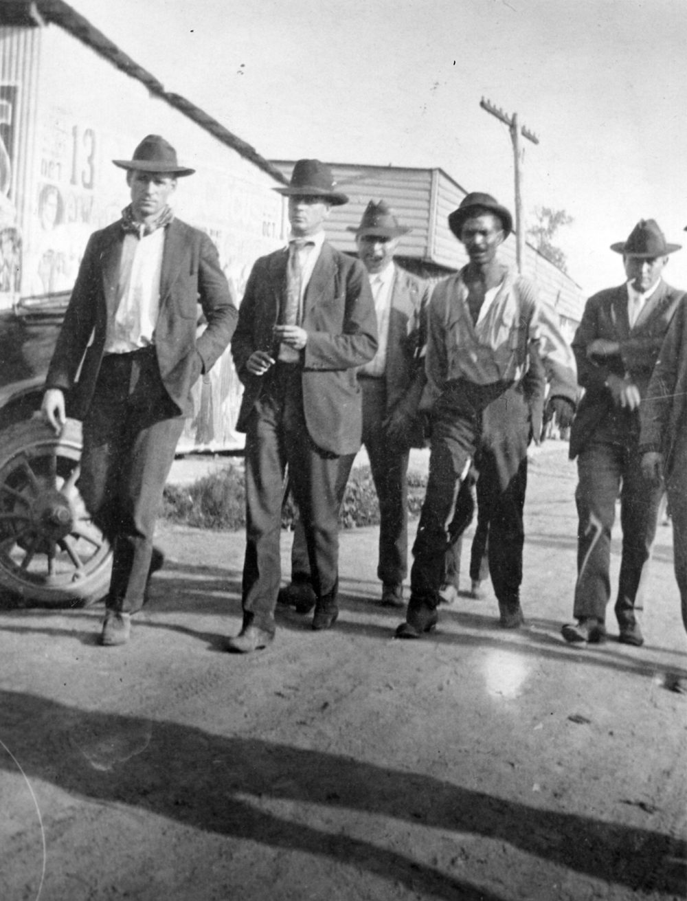 A black Elaine resident is escorted through the city. (Courtesy of the Arkansas State Archives.)