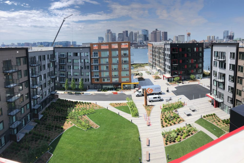 An aeriel view of Clippership Wharf in East Boston. (Courtesy: Lendlease)