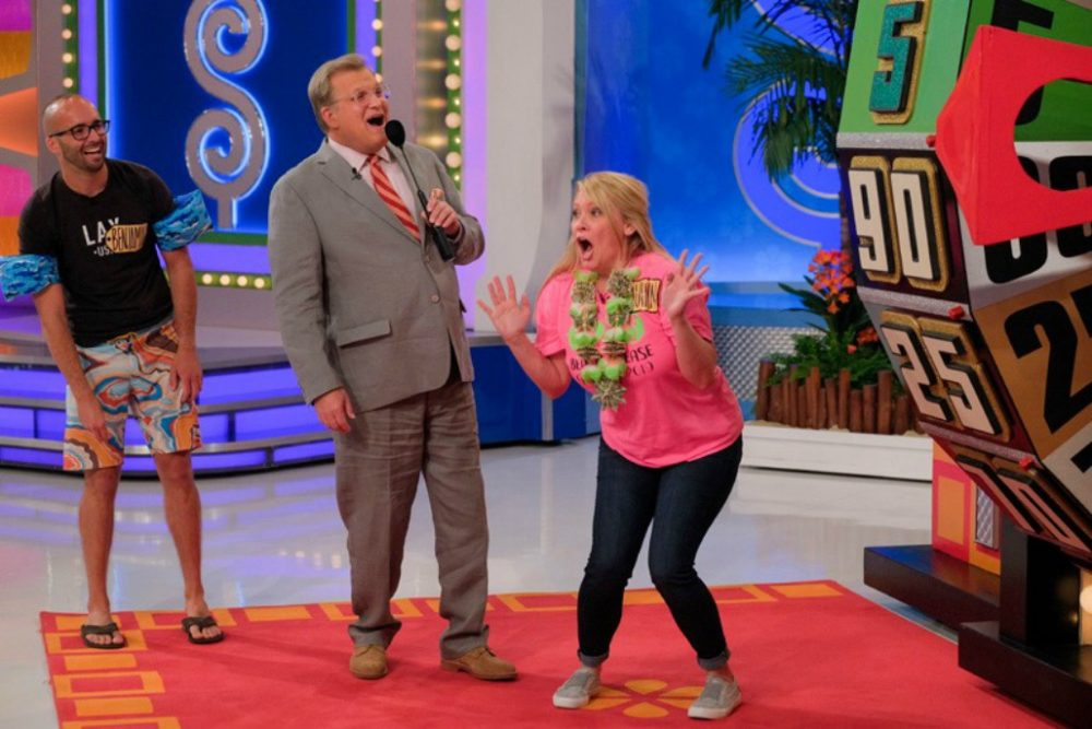 "Drew Carey, the host of ""The Price Is Right,"" with contestants. (""The Price Is Right""/Facebook)"