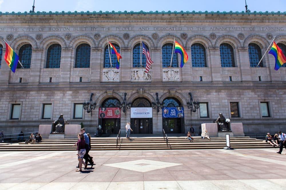 The Boston Public Library in Boston's Copley Square, pictured in 2015. (Jesse Costa/WBUR)