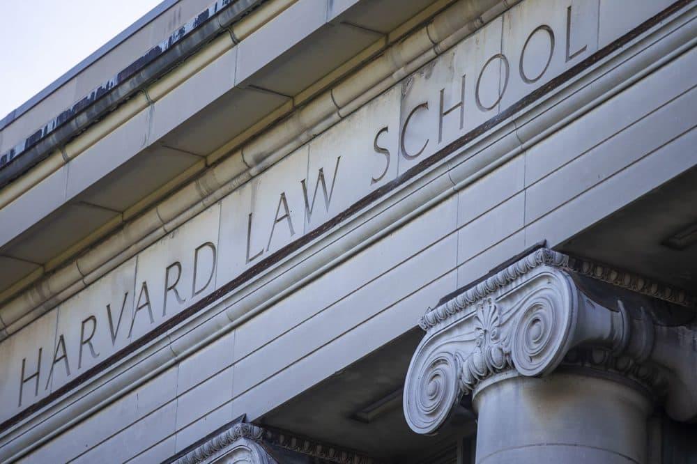 Langdell Hall at Harvard Law School (Jesse Costa/WBUR)
