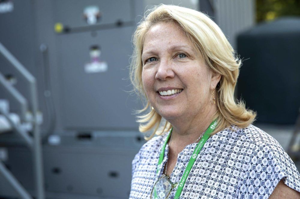 Kim Gibson of Gibby's Garden, Uxbridge. (Robin Lubbock/WBUR)