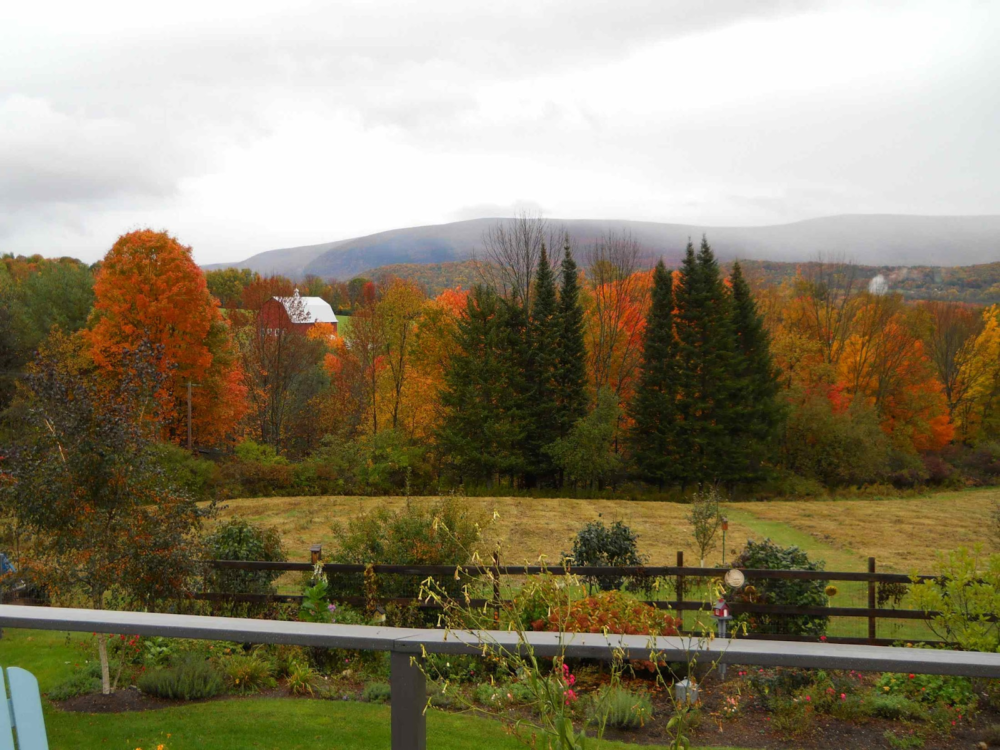 Vermont turns vividly colored in the fall. (Courtesy of Judie Brower)