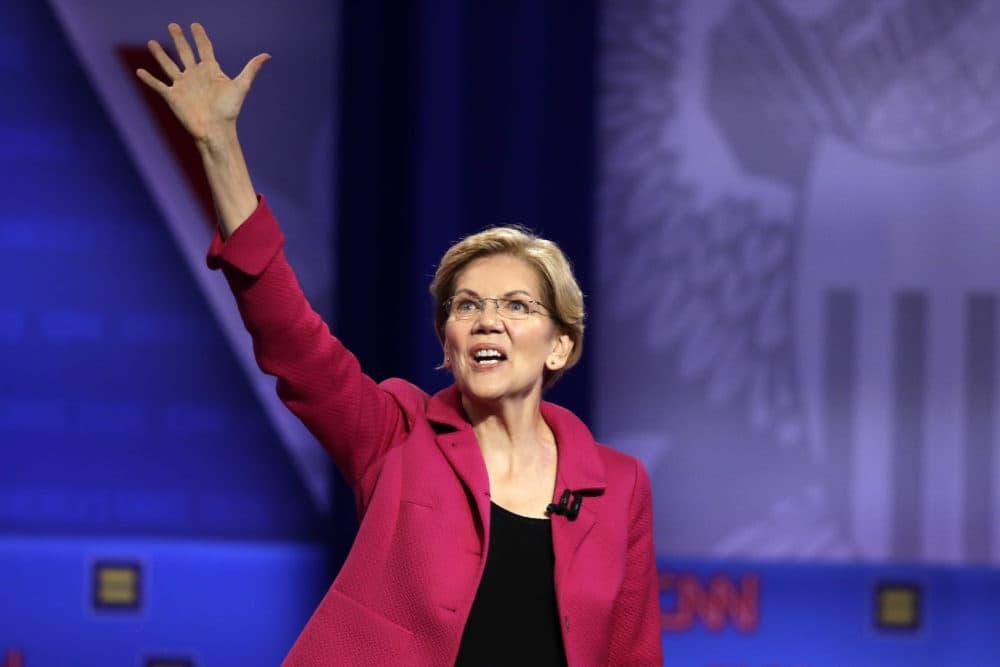 Democratic presidential candidate Sen. Elizabeth Warren, D-Mass., speaks during the Power of our Pride Town Hall on Oct. 10 in Los Angeles. (Marcio Jose Sanchez/AP)