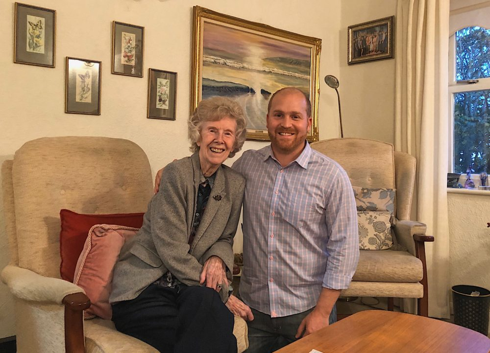 Host Jeremy Hobson and his grandmother, Margaret Hobson.