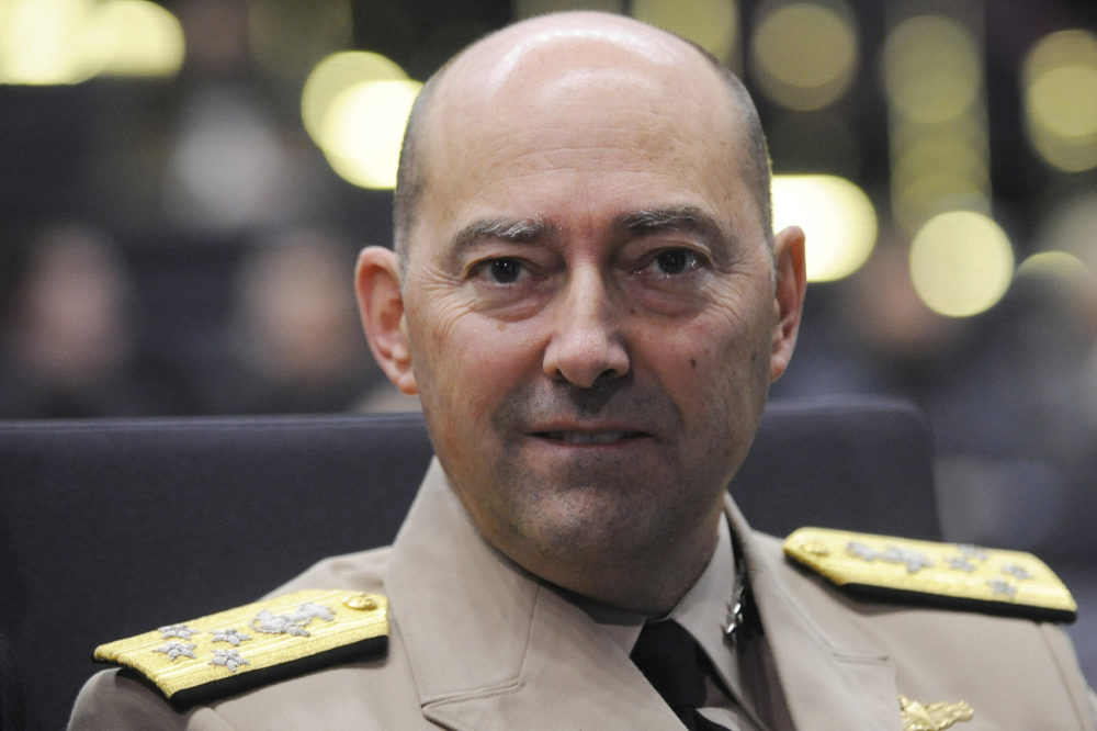 U.S. Admiral James Stavridis, NATO Supreme Allied Commander Europe, looks on during the Global Forum conference in Wroclaw, Poland, Friday, Oct. 8, 2010. (Alik Keplicz/AP)