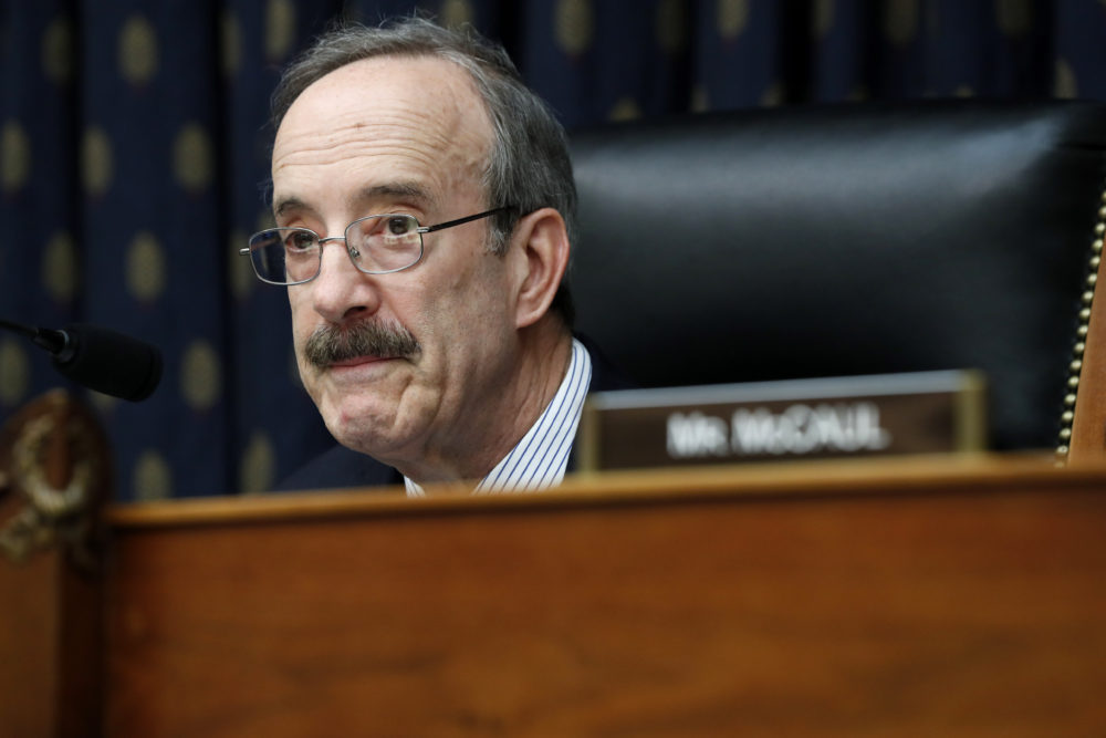 House Foreign Affairs Chairman Rep. Eliot Engel in April. (Jacquelyn Martin/AP)