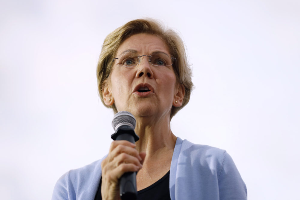 Democratic presidential candidate Sen. Elizabeth Warren speaks at a town hall meeting Sept. 19 in Iowa City, Iowa. (Charlie Neibergall/AP)