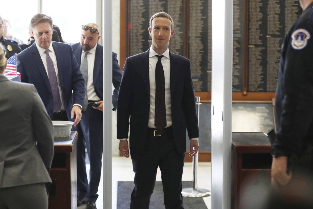 Facebook CEO Mark Zuckerberg arrives to testify before a House Financial Services Committee hearing on Capitol Hill in Washington, Wednesday, Oct. 23, 2019, on Facebook's impact on the financial services and housing sectors. (Andrew Harnik/AP)