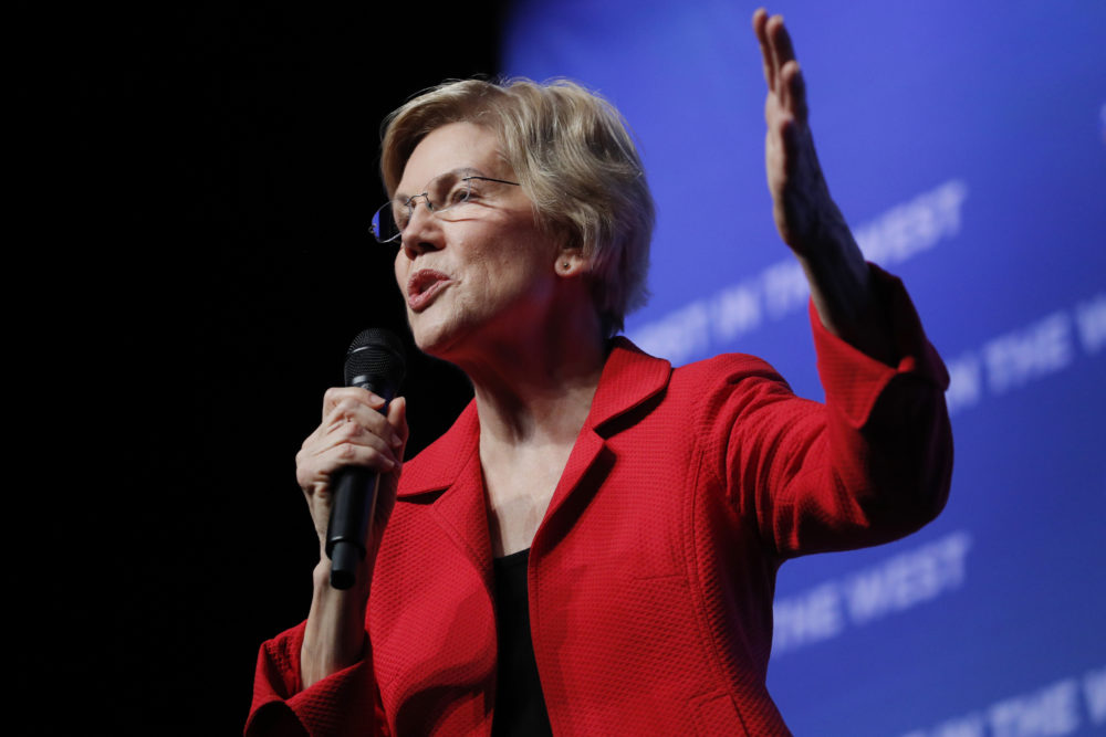 Elizabeth Warren on Nov. 17 in Las Vegas (John Locher/AP)
