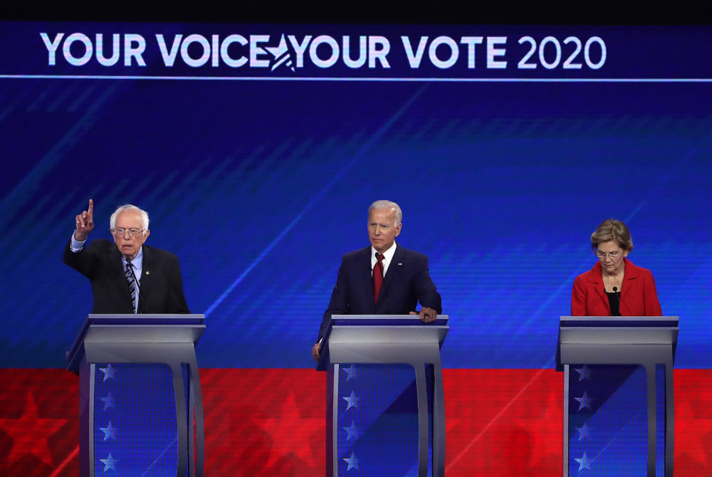 Bernie Sanders, Joe Biden and Elizabeth Warren are all Democratic presidential candidates over 70 years old. (Win McNamee/Getty Images)