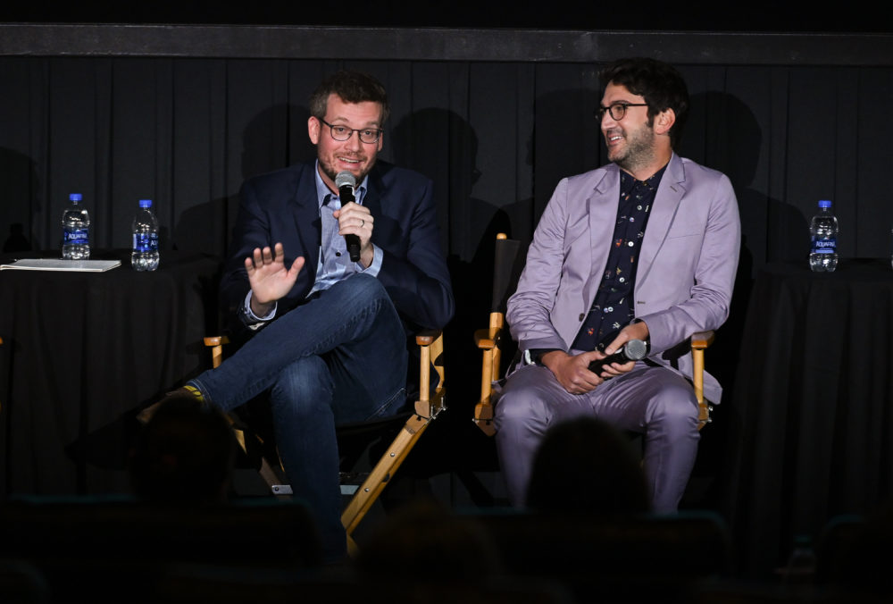 "John Green and Josh Schwartz attend the ""Looking For Alaska"" screening during the 2019 Tribeca TV Festival in New York City. (Noam Galai/Getty Images)"