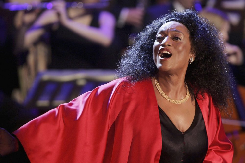 "Jessye Norman performs at the talk and game show ""Wetten Dass . . . ?"" April 1, 2006 in Halle, Germany.  (Sean Gallup/Getty Images)"