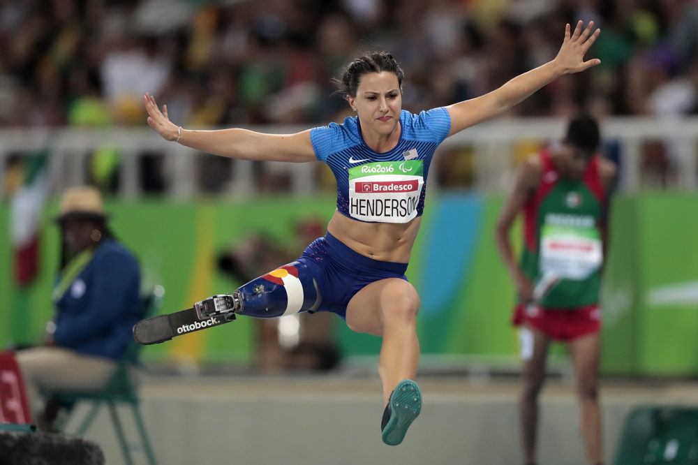 Lacey Henderson at the Rio 2016 Paralympic Games. (Alexandre Loureiro/Getty Images)