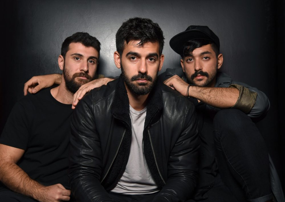 Musicians Haig Papazian, Carl Gerges and Hamed Sinno of Mashrou' Leila. (Angela Weiss/AFP/Getty Images)