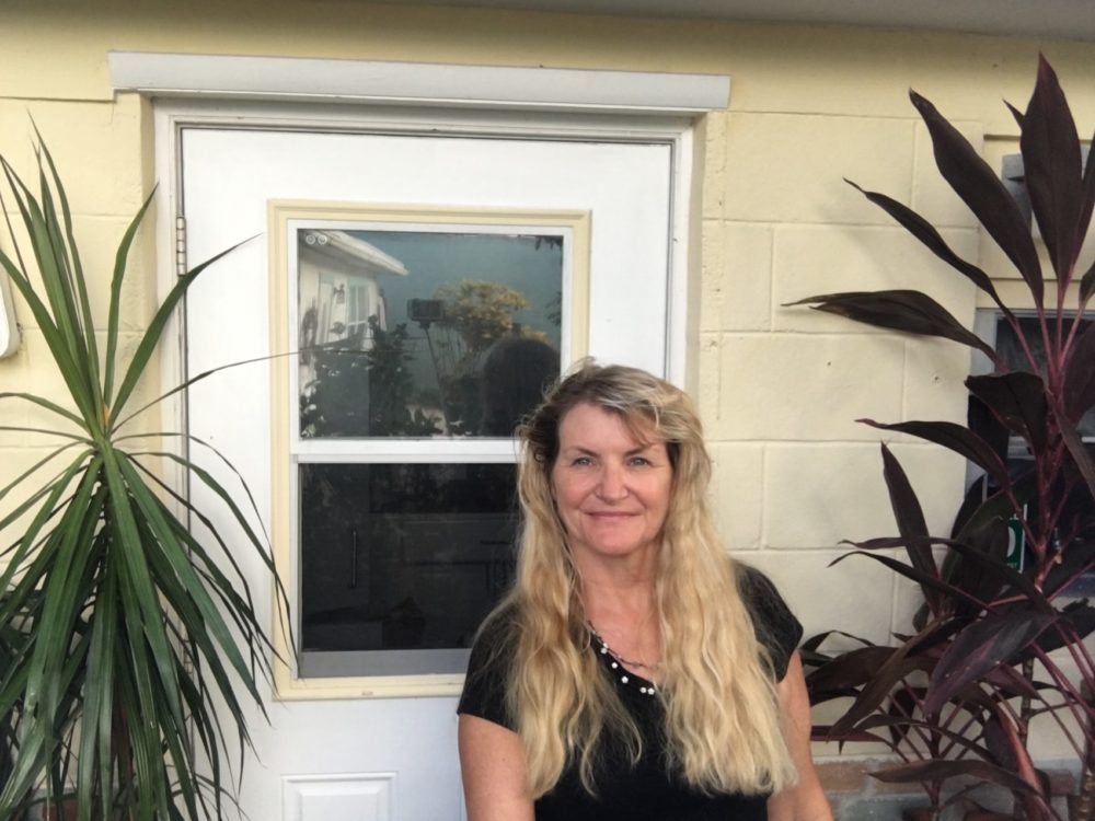 Lori Rittel in front of her kitchen door. (Courtesy of Rittel)