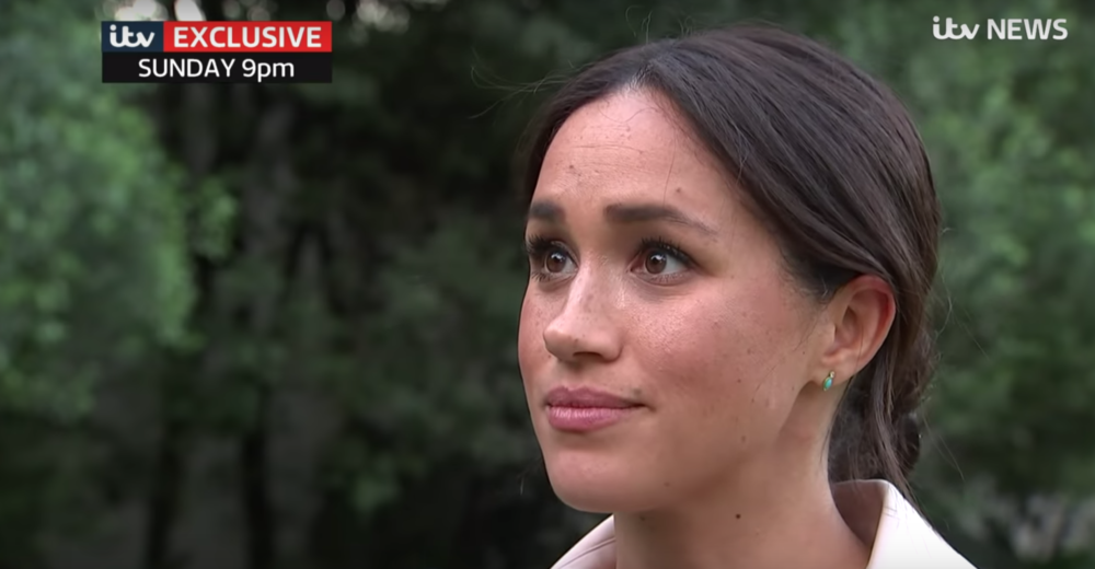 Meghan Markle, the Duchess of Sussex, pictured in an interview with ITV News. (ITV News screenshot/YouTube)