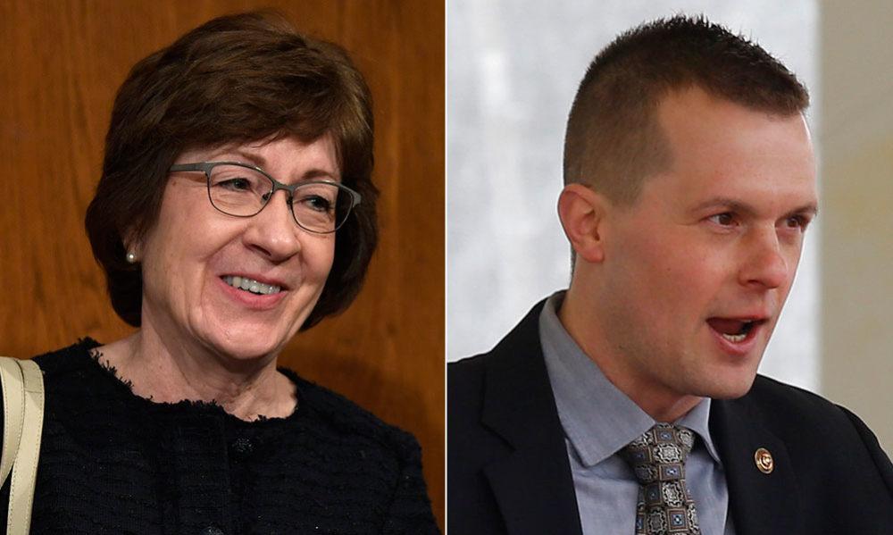 Republican Sen. Susan Collins and Democratic Rep. Jared Golden (Susan Walsh, David Sharp/AP)