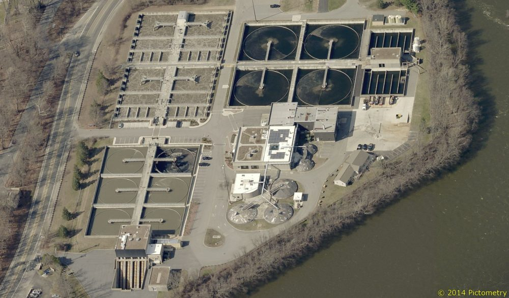 The Lowell Regional Wastewater Utility operates Duck Island Wastewater Treatment Facility, where it's previously allowed a New Hampshire landfill to send polluted runoff for treatment. (Courtesy of City of Lowell)