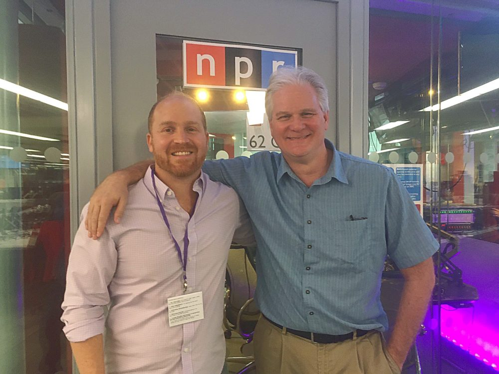 NPR London correspondent Frank Langfittand Here & Now's Jeremy Hobson.