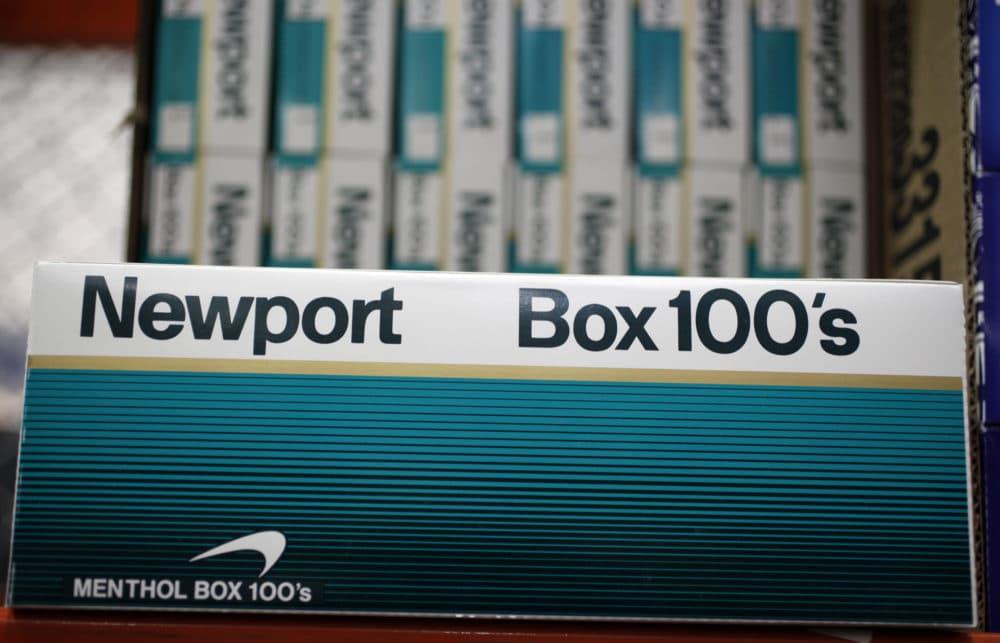 Newport cigarettes are seen on display at a Costco store. (Paul Sakuma/AP)