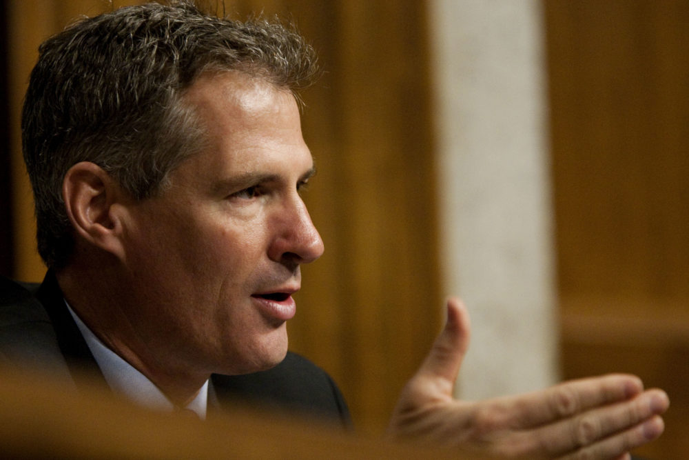 In this 2010 file photo, then-Sen. Scott Brown, R-Mass., is seen on Capitol Hill. (Drew Angerer/AP)
