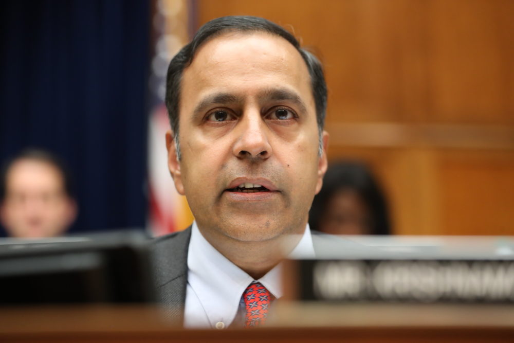 Rep. Raja Krishnamoorthi, D-Ill., questions Acting Director of National Intelligence Joseph Maguire as he testifies before the House Intelligence Committee on Capitol Hill in Washington, Thursday, Sept. 26, 2019. (Andrew Harnik/AP)