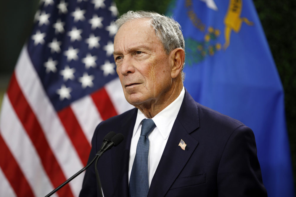 Former New York City Mayor Michael Bloomberg speaks at a news conference at a gun control advocacy event in Las Vegas. (John Locher, File/AP)