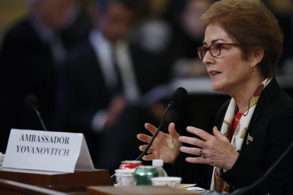 Former Ambassador to Ukraine Marie Yovanovitch testifies before the House Intelligence Committee on Capitol Hill. (Alex Brandon/AP)