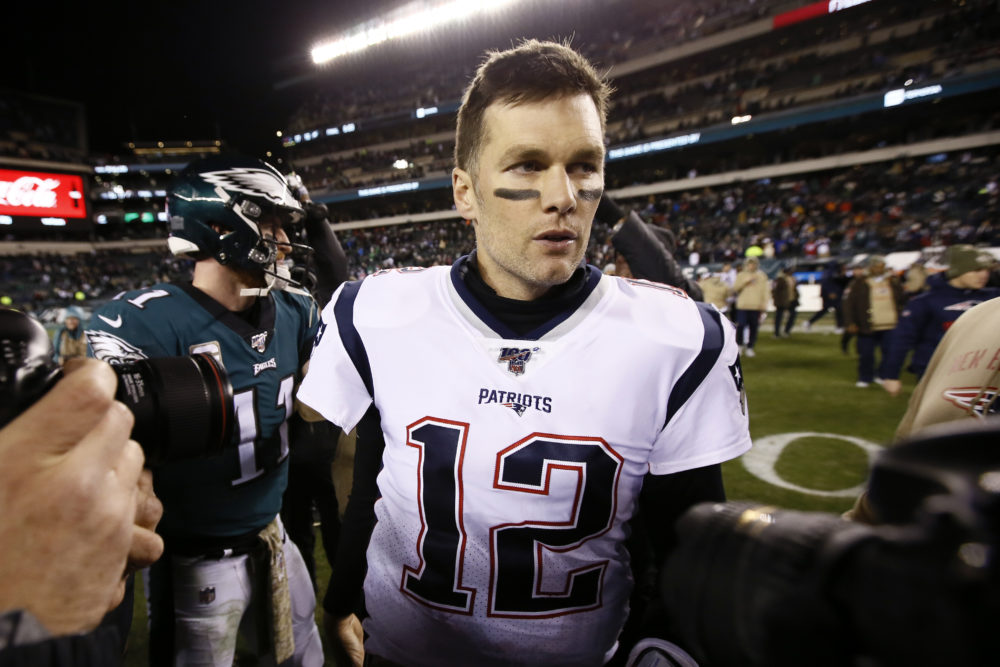New England Patriots' Tom Brady walks the field after the game. New England won 17-10. (Michael Perez/AP)