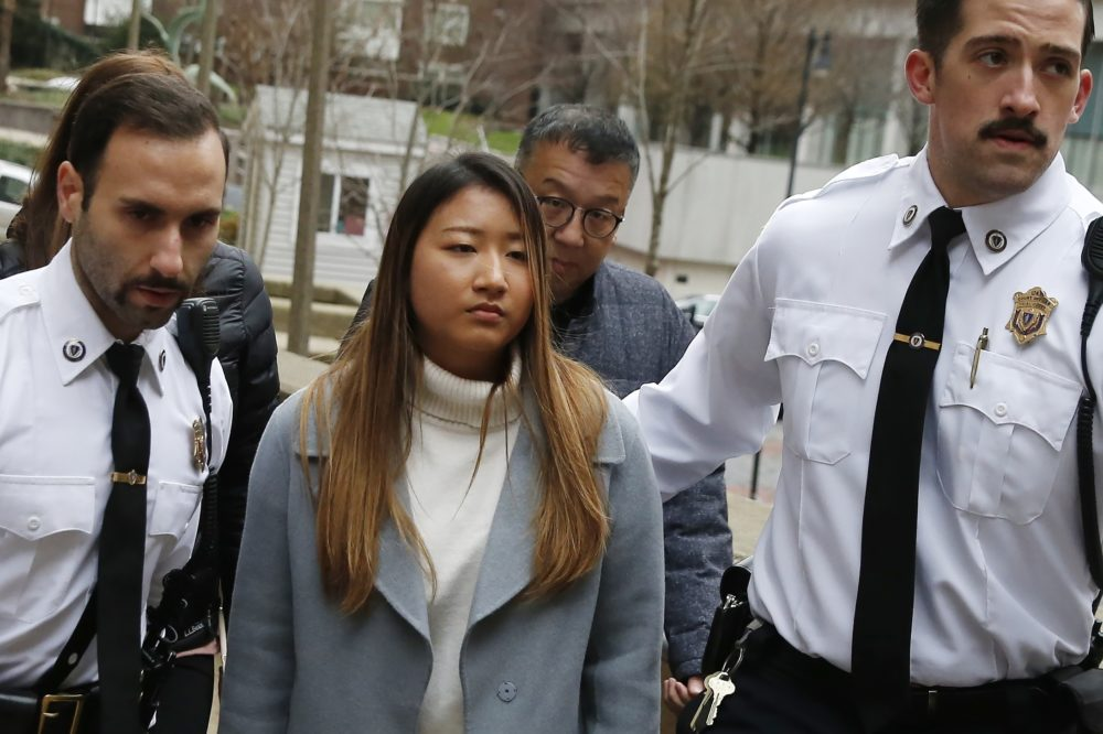Inyoung You arrives at Suffolk Superior Court in Boston (Michael Dwyer/AP)