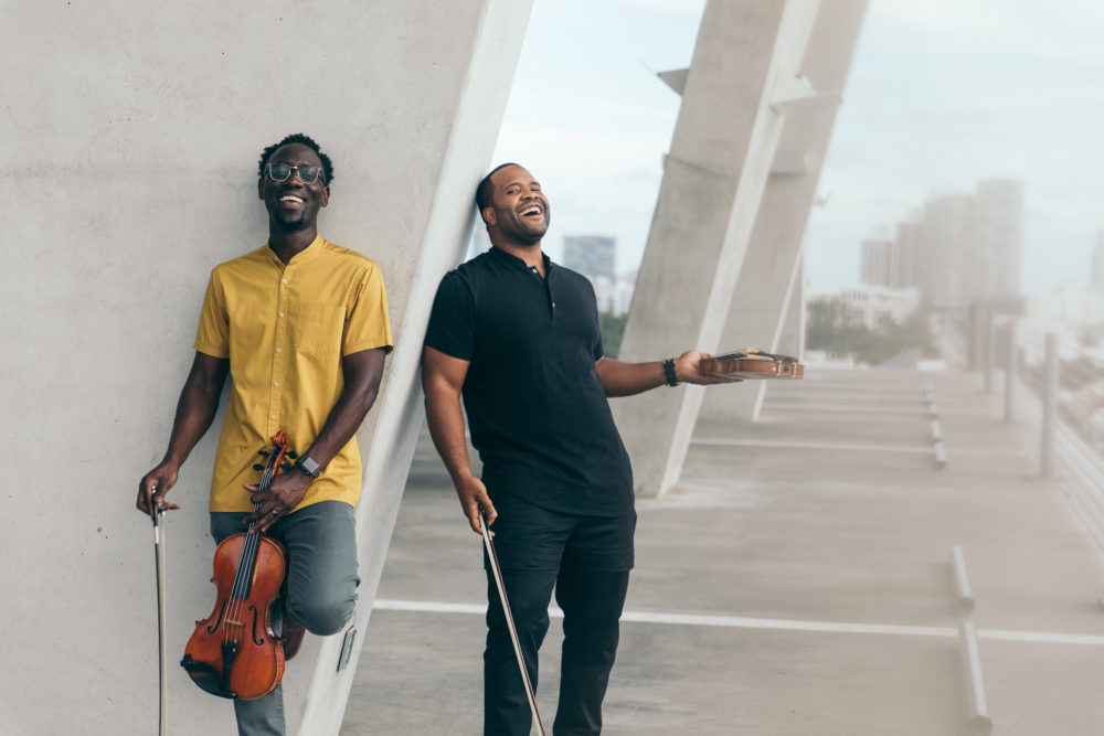 "Hip-hop duo Black Violin's new album is called ""Take The Stairs."" (Mark Clennon)"