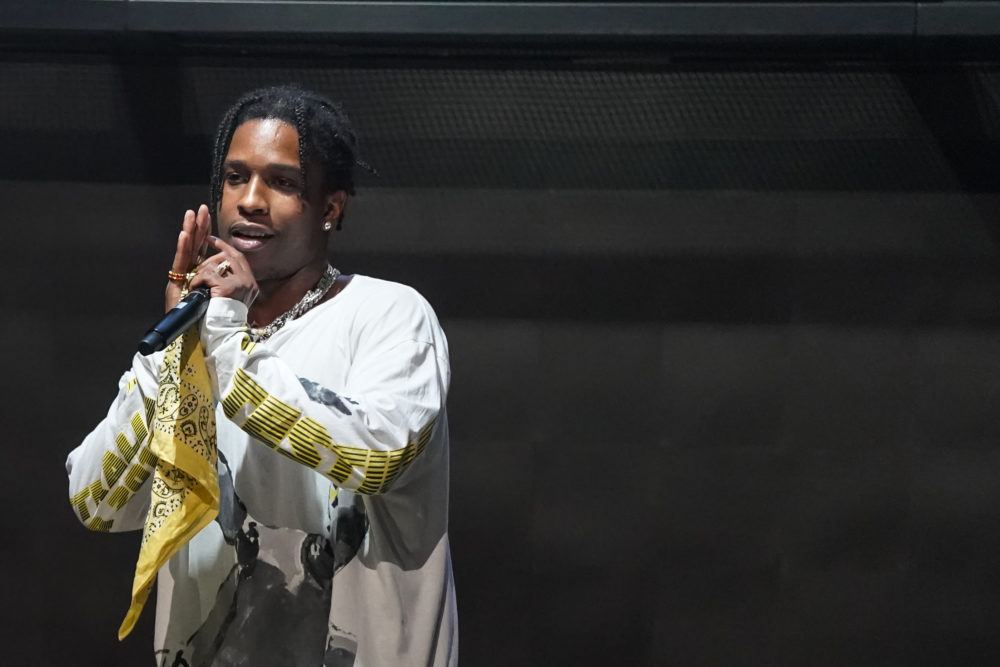 A$AP Rocky performs at the MARQUEE Singapore grand opening celebration on April 13, 2019 in Singapore. (Christopher Jue/Getty Images for MARQUEE Singapore)
