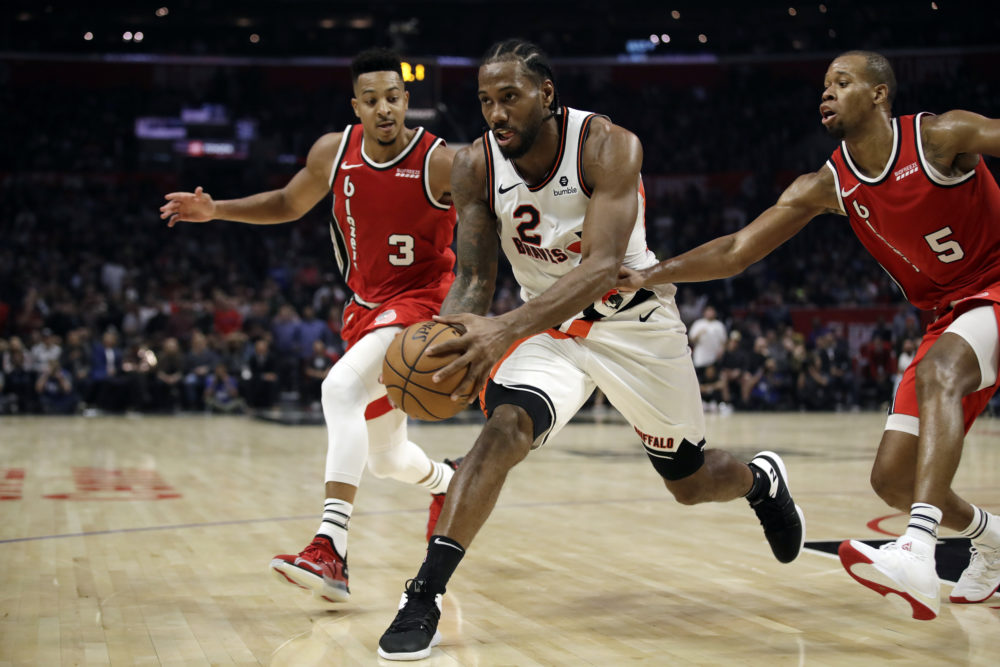 Kawhi Leonard missed two of the Clippers' first eight games. (Marcio Jose Sanchez/AP)