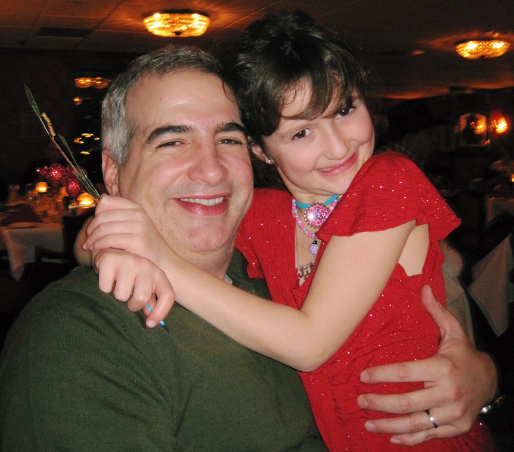 A young Laila Shadid with her dad, Anthony Shadid. (Courtesy of Laila Shadid)