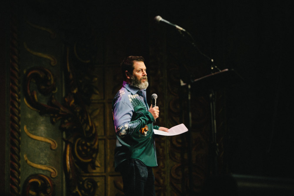 Nick Offerman on stage. (Photo by Michael Gomez)