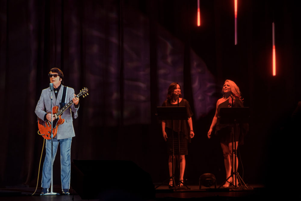 "A Roy Orbison hologram performing as part of the ""Roy Orbison and Buddy Holly: The Rock 'n' Roll Dream Tour."" (Courtesy BASE Hologram Productions)"