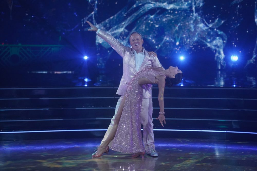 """Sean Spicer and his dance partner on November 11, 2019. (Courtesy """"Dancing With The Stars"""" Disney 