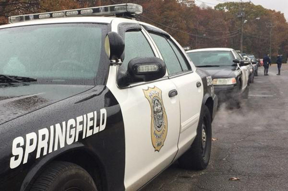 Police cruisers in Springfield, Massachusetts. (Courtesy The Springfield Republican/Masslive.com)