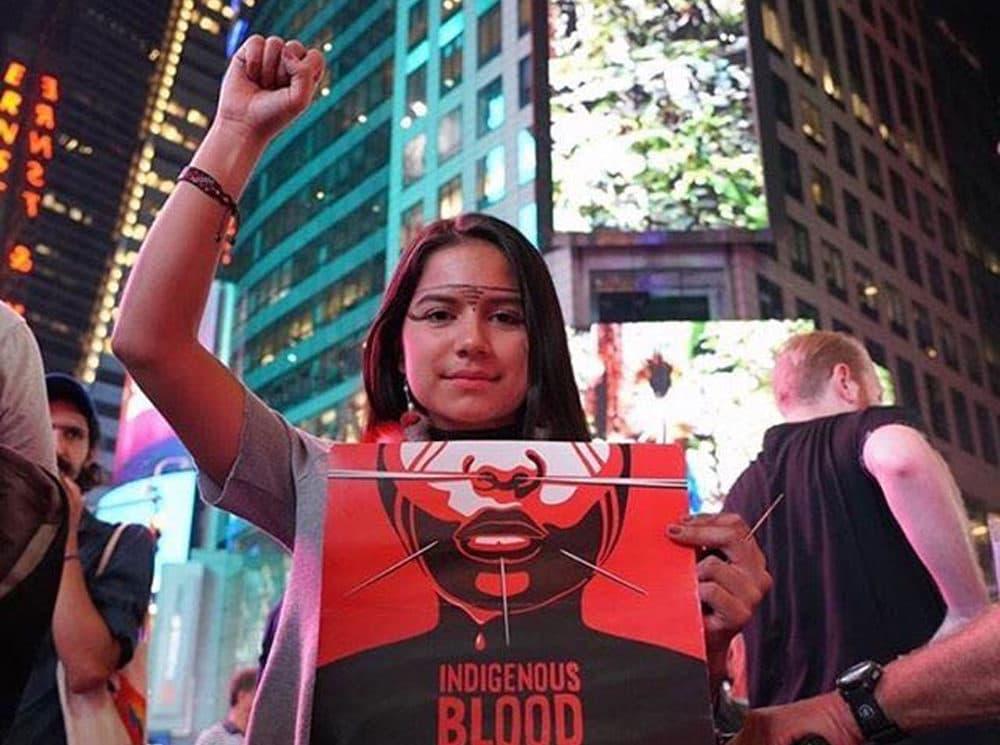 Activist Helena Gualinga. (Allison Hanes.)