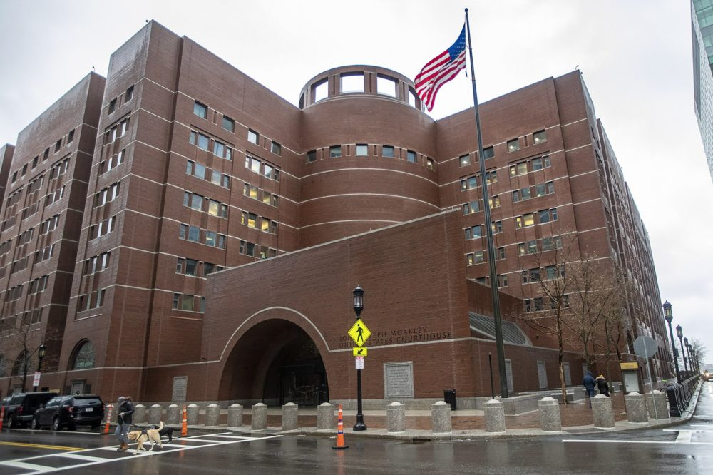 The John Joseph Moakley Courthouse in Boston. (JesseCosta/WBUR)