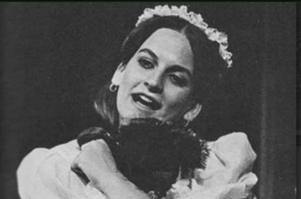 "The author as a junior in high school, in the role of Millinette, a French chamber maid, in a Denver community theater production of ""Fashion: Or Life in New York in the 1850."" (Courtesy)"