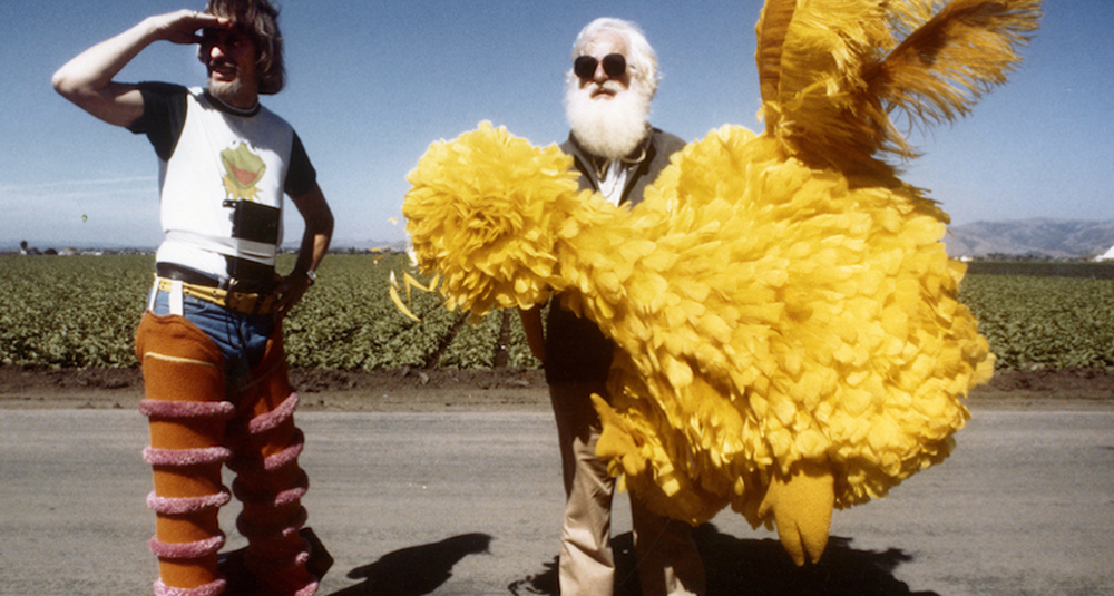 "Caroll Spinney and Kermit Love on the set of a ""Sesame Street"" production. (Courtesy Debra Spinney)"